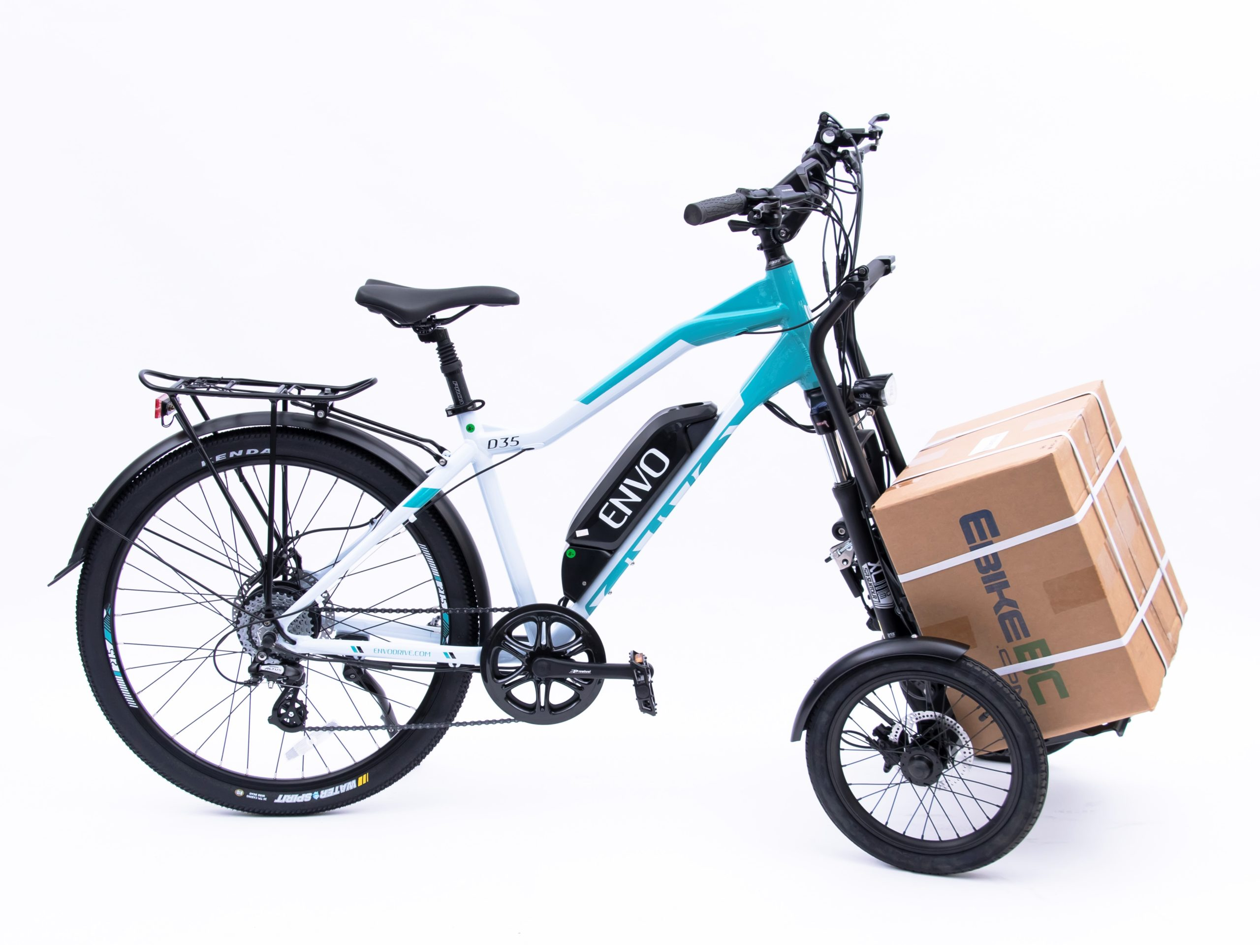 ENVO ebike with Trego cargo accessory