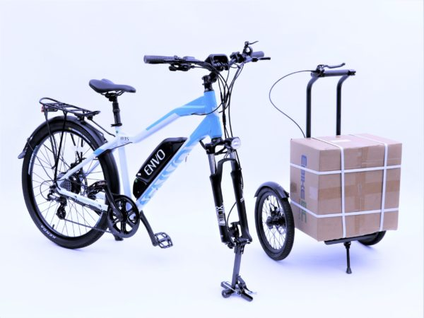 ENVO ebike with trego cargo attachment