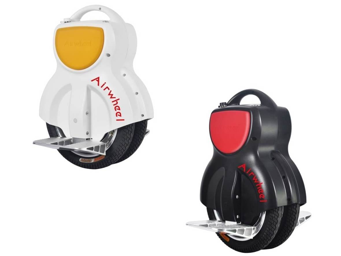 two Airwheel Q1 electric unicycles