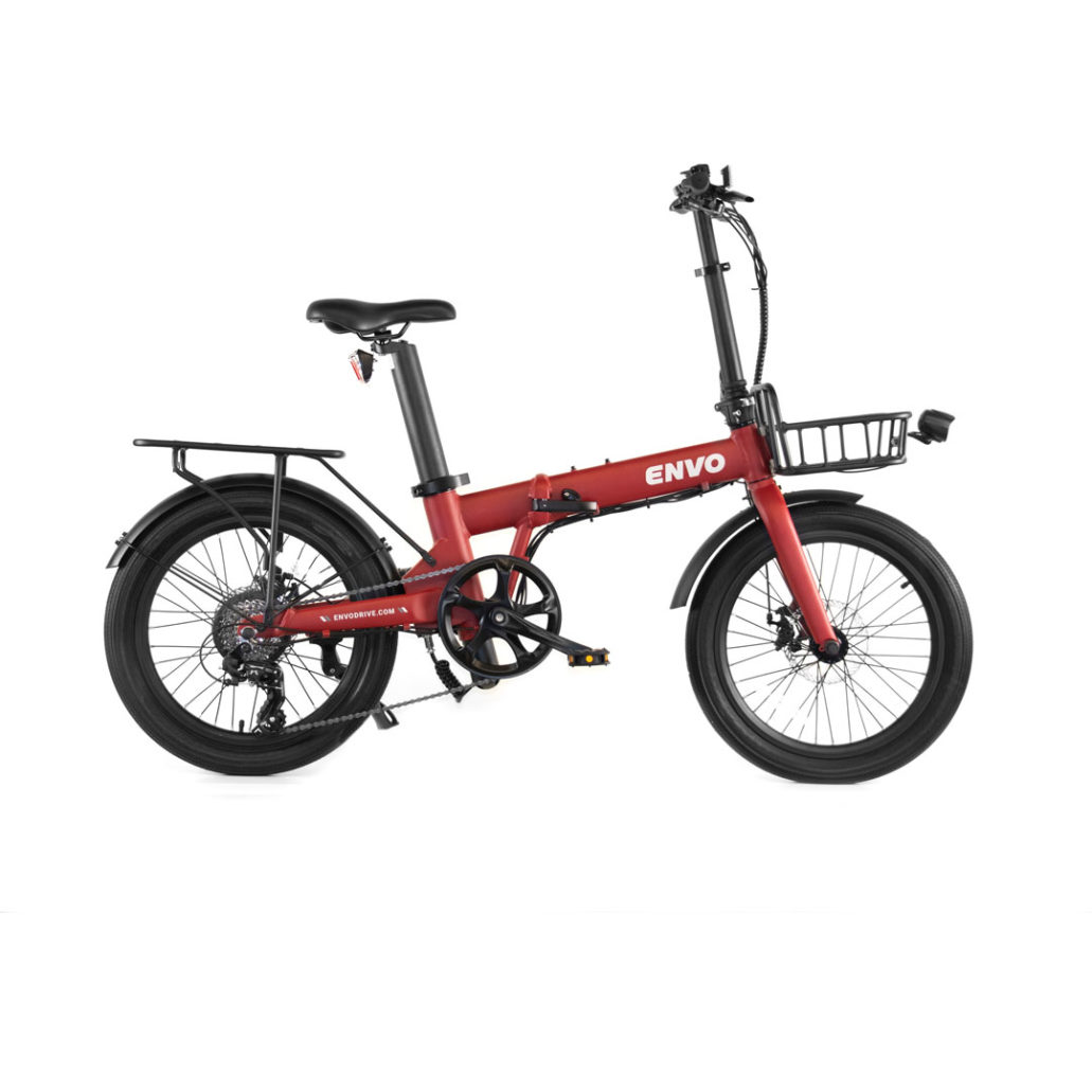 ENVO Lynx-20 Folding Electric Bike Red