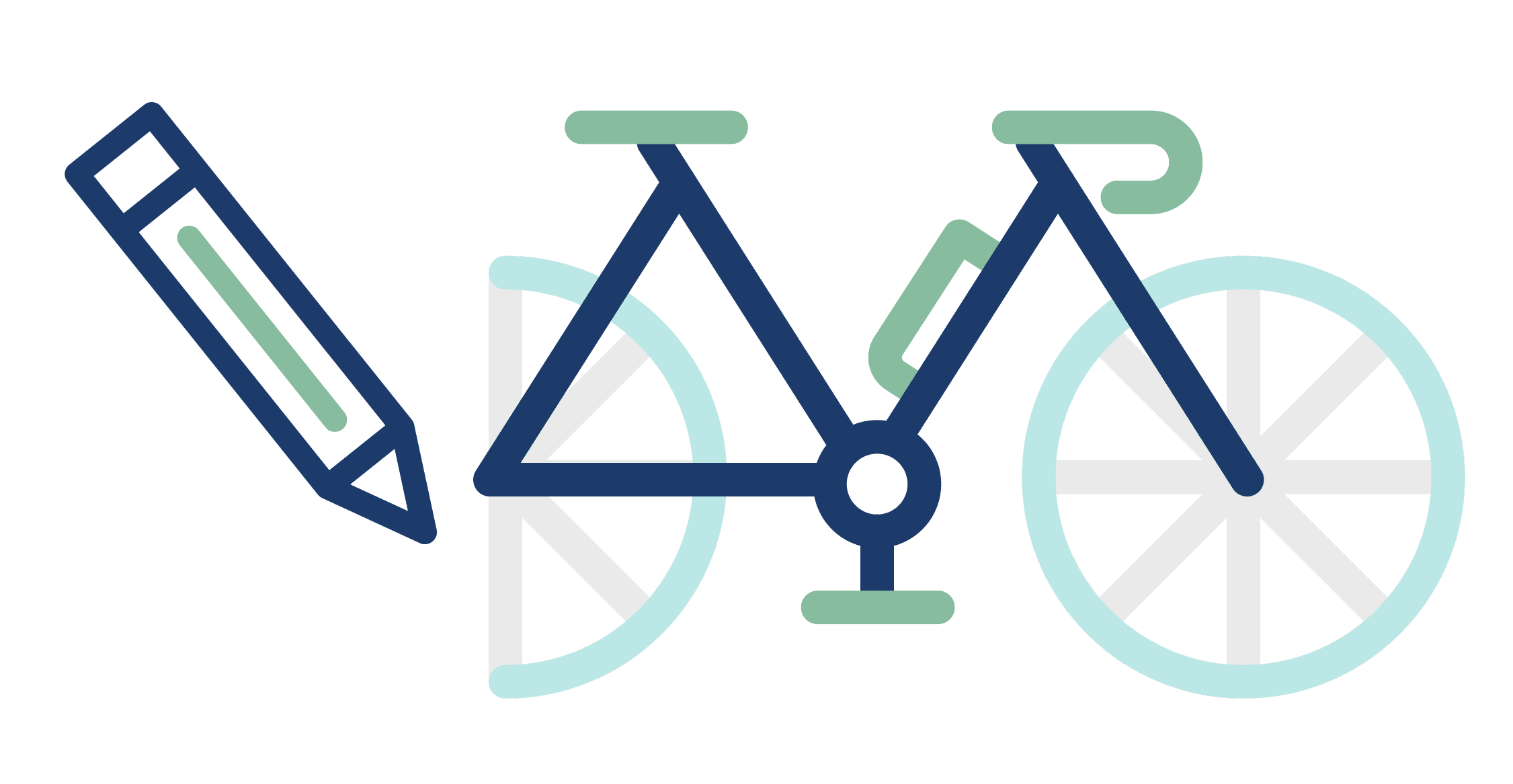 Electric Bike Design Icon